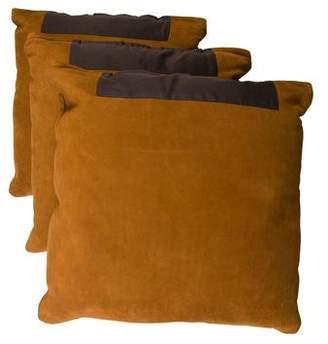 Ralph Lauren Set of 3 Suede Throw Pillows