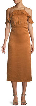 Donna Mizani Alianna Sleeveless A-Line Midi Cocktail Dress