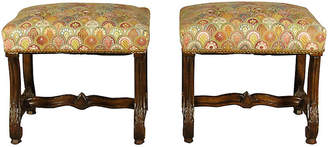 One Kings Lane Vintage 19th-C. French Stools - Set of 2