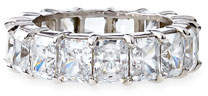 Fantasia by DeSerio Radiant-Cut CZ Eternity Band Ring $875 thestylecure.com