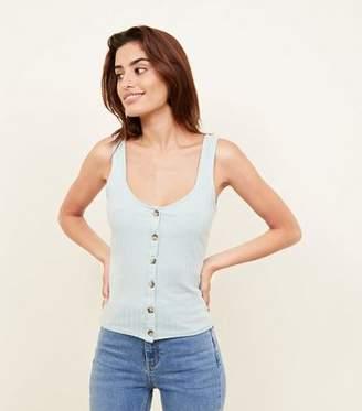 e0a65b1c89de50 Ribbed Vest Tops With Buttons - ShopStyle UK