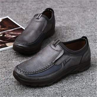 mtqsun Gracosy Men 's Slip On Round Toe Casual Shoes Daily Microfiber Leather Shoes