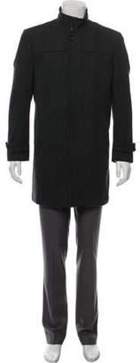 Burton Wool-Blend Herringbone Coat