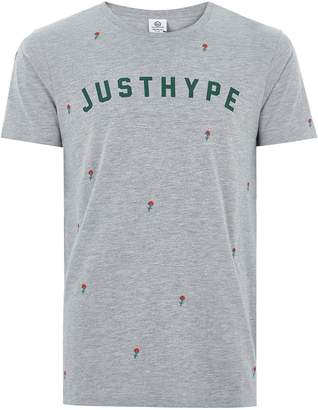 Hype HYPE'S Grey 'Scattered Rose' T-Shirt*