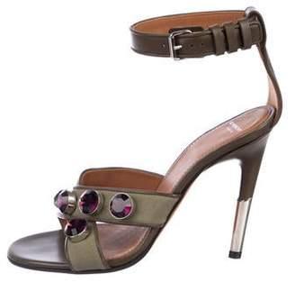 Givenchy Embellished Canvas Sandals