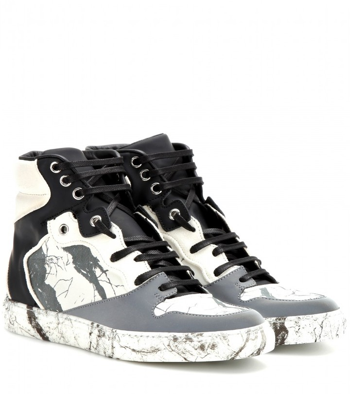 Balenciaga Leather and suede high-tops