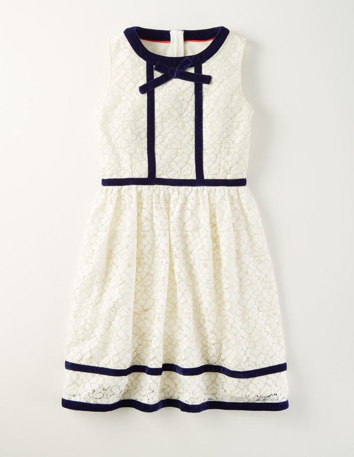 BodenLace and Velvet Trim Dress