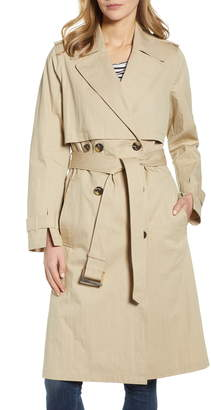 London Fog Seamed Trench Coat