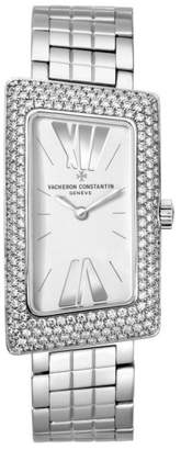 Vacheron Constantin 25515/u01g-9233 Cambree 1972 18K White Gold 37.7mm x 21mm Watch $38,000 thestylecure.com
