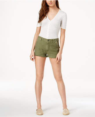 Citizens of Humanity Meghan Frayed Cotton Shorts