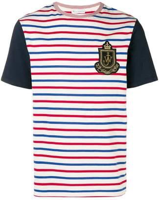 J.W.Anderson stripe logo patch T-shirt