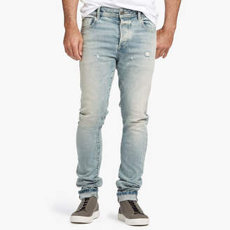 James Perse DISTRESSED STRETCH SELVEDGE DENIM JEANS