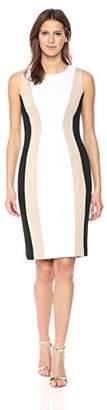 Calvin Klein Women's Sleeveless Multi Seamed Sheath Dress