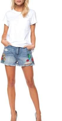 Dex Denim Floral Shorts