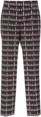 Prada Lipstick Print Twill Straight-Leg Pants