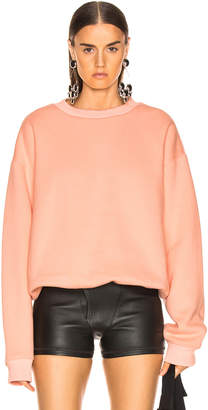 Alexander Wang Dense Fleece Crewneck Sweatshirt