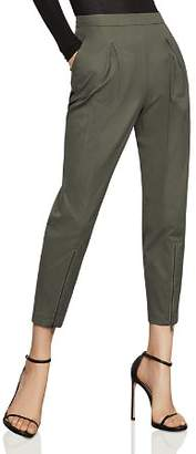BCBGMAXAZRIA Pleated Zip-Hem Ankle Pants - 100% Exclusive