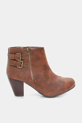 Ardene Block Heeled Faux Leather Booties