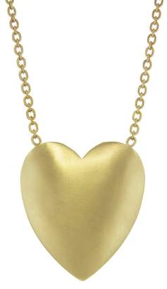 Irene Neuwirth Extra Large Flat Heart Necklace - Yellow Gold