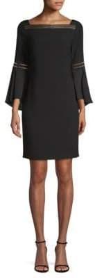 Elie Tahari Trans 18 Esmarella Bell-Sleeve Sheath Dress
