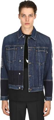 McQ Patchwork Velvet & Denim Jacket