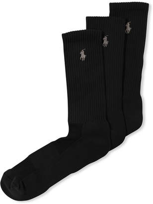 Polo Ralph Lauren Men Socks, Casual Pony Player Crew 3 Pack