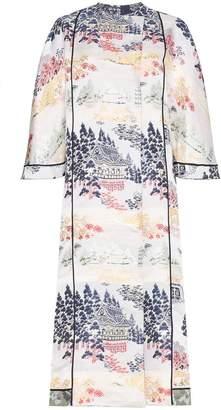 ADAM by Adam Lippes reverse jacquard silk kimono coat