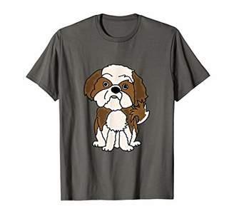 Shih Smilemoretees Funny Tzu Puppy Dog Cartoon T-shirt