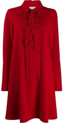 Blumarine Be Ruffle Neck Dress