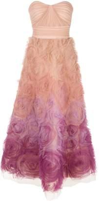 Marchesa floral tulle ombré gown