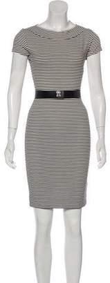 L'Agence Belted Striped Dress