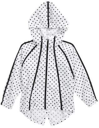 Zella Polka Dot Hooded Jacket (Little Girls & Big Girls)