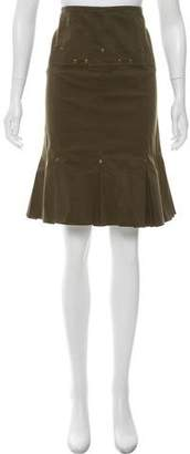Charles Chang-Lima Knee-Length Pleated Skirt