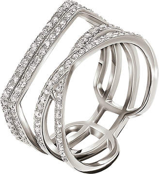 Folli Follie Fashionably sterling silver band ring