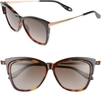Givenchy 57mm Cat Eye Sunglasses