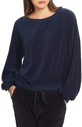 1 STATE 1.STATE Velour Sweatshirt