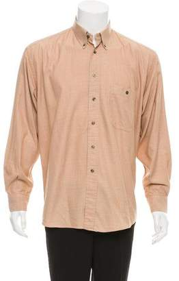 Burberry Grid Pattern Button-Up Shirt