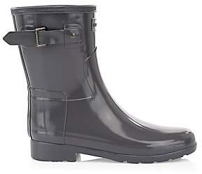 b9914d526fbb Hunter Women s Original Refined Gloss Rubber Ankle Rain Boots