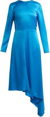 MSGM Asymmetric-hem satin dress