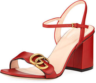 22b132f0c0a Gucci Red Heeled Women s Sandals - ShopStyle
