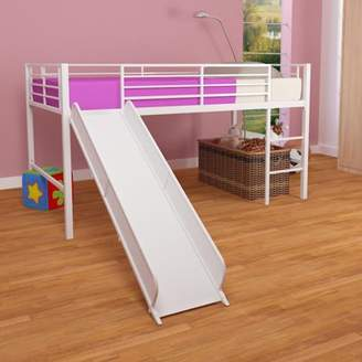 LOFT Generic DHP Junior Bed with White Slide, Twin Size - White
