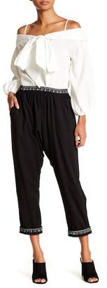 Why Dress Elactisized Printed Waistband Baggy Pants
