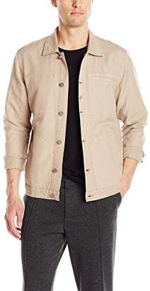 Michael Stars Men's Linen Canvas Shirt Jacket