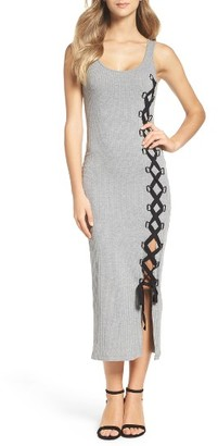 Women's French Connection Tommy Lace-Up Midi Dress $118 thestylecure.com