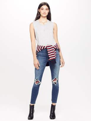 Mother High Waisted Looker Ankle Fray - Just Like The Ones We Use To Know Destroyed
