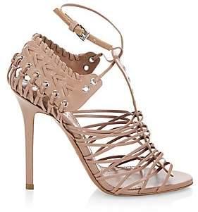 Alaia Women's Caged Stiletto-Heel Leather Sandals
