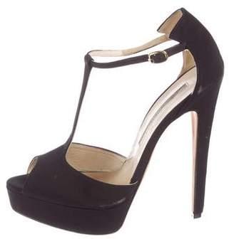 Brian Atwood Platform T-Strap Sandals