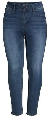 Seven7 Printed Foil Tuxedo Stripe Skinny Jeans