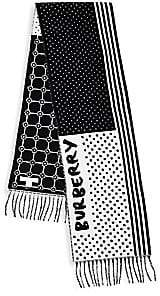 Burberry Patchwork Wool& Cashmere Jacquard Scarf