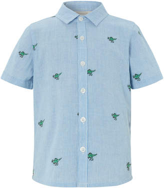 Monsoon Nixon Dinosaur Embroidered Short Sleeve Shirt